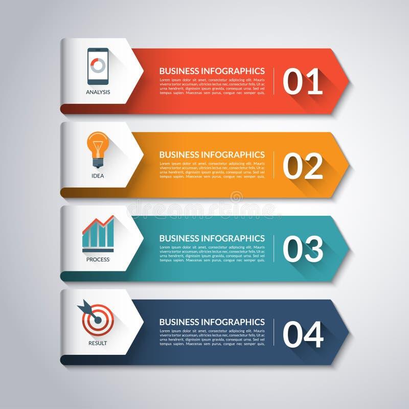 Pfeil Infographic-Schablone Es kann für Leistung der Planungsarbeit notwendig sein lizenzfreie abbildung