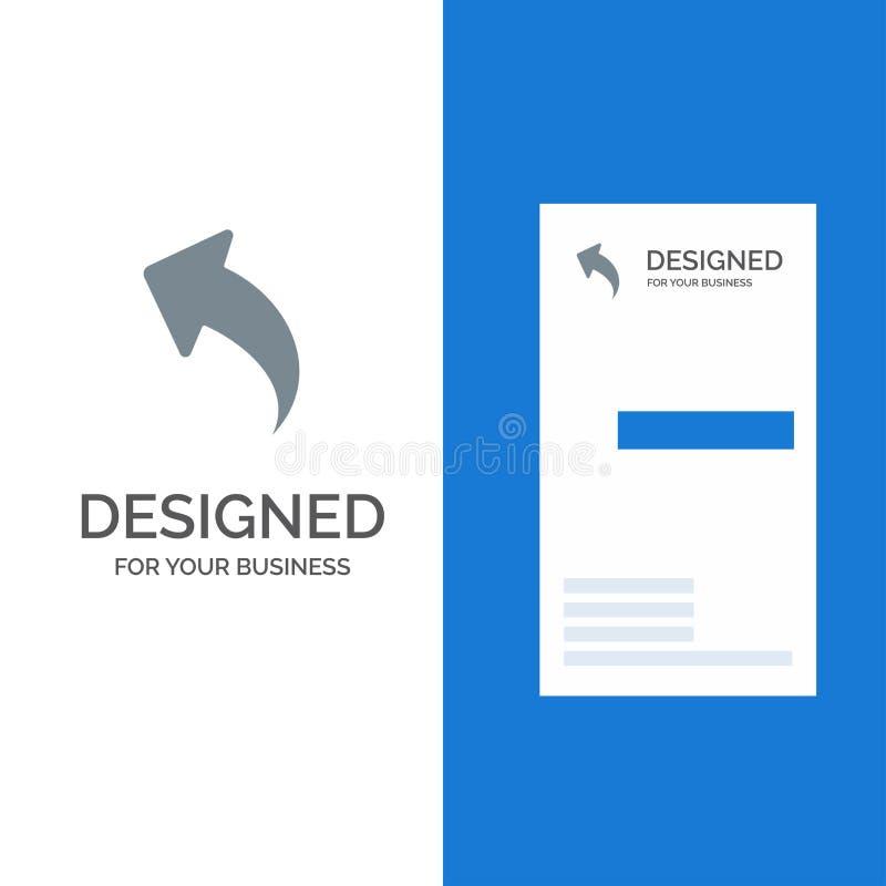 Pfeil oben Rückseite Grey Logo Design und Visitenkarte-Schablone vektor abbildung