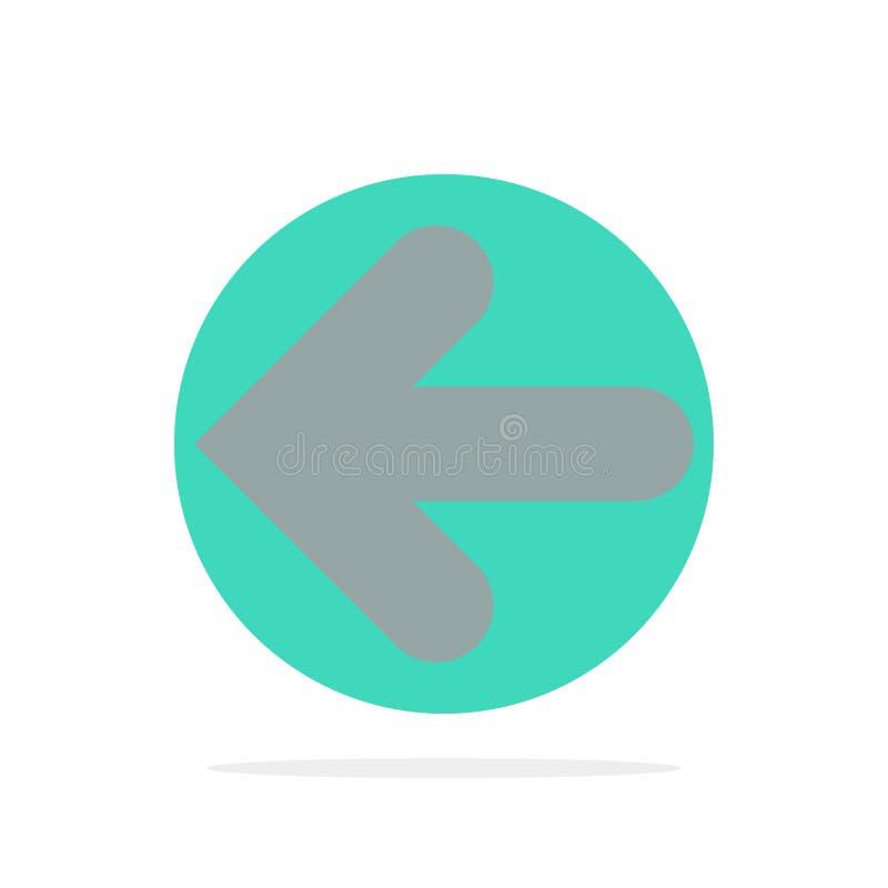 Pfeil, Pfeile, Rückseite, flache Ikone Farbe des Punkt-Rückseiten-Zusammenfassungs-Kreis-Hintergrundes lizenzfreie abbildung