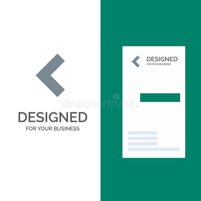 Pfeil, Rückseite, linker Grey Logo Design und Visitenkarte-Schablone stock abbildung