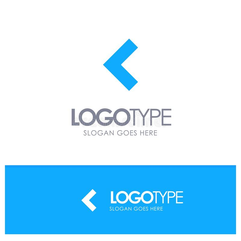 Pfeil, Rückseite, linkes blaues festes Logo mit Platz für Tagline stock abbildung