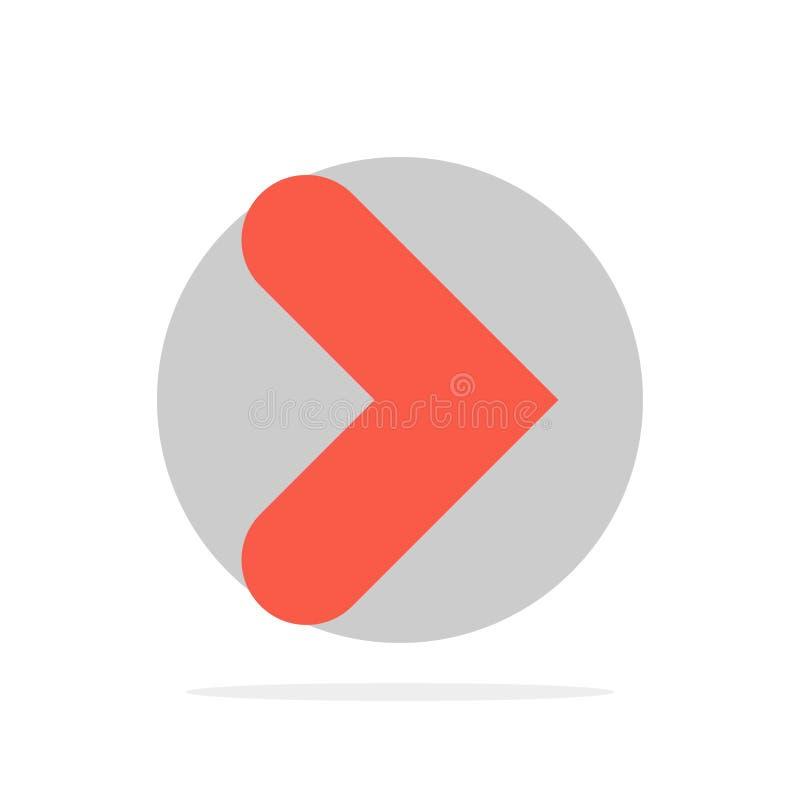 Pfeil, Recht, Vorwärts, flache Ikone Farbe des Richtungs-Zusammenfassungs-Kreis-Hintergrundes stock abbildung