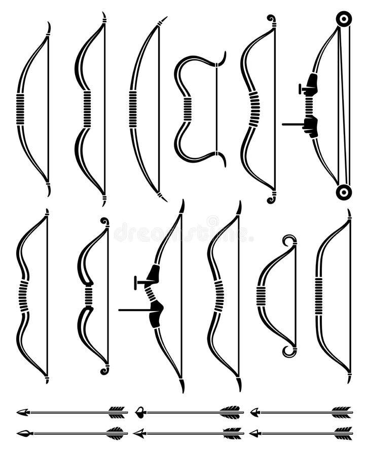 Pfeil und Bogen-Satz Vektor stock abbildung