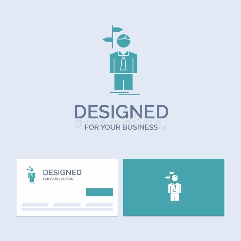 Pfeil, Wahl, wählen, Entscheidung, Richtung Geschäft Logo Glyph Icon Symbol für Ihr Geschäft T?rkis-Visitenkarten mit Marke lizenzfreie abbildung