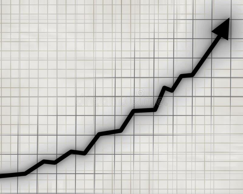 Pfeildiagramm, das steigt vektor abbildung