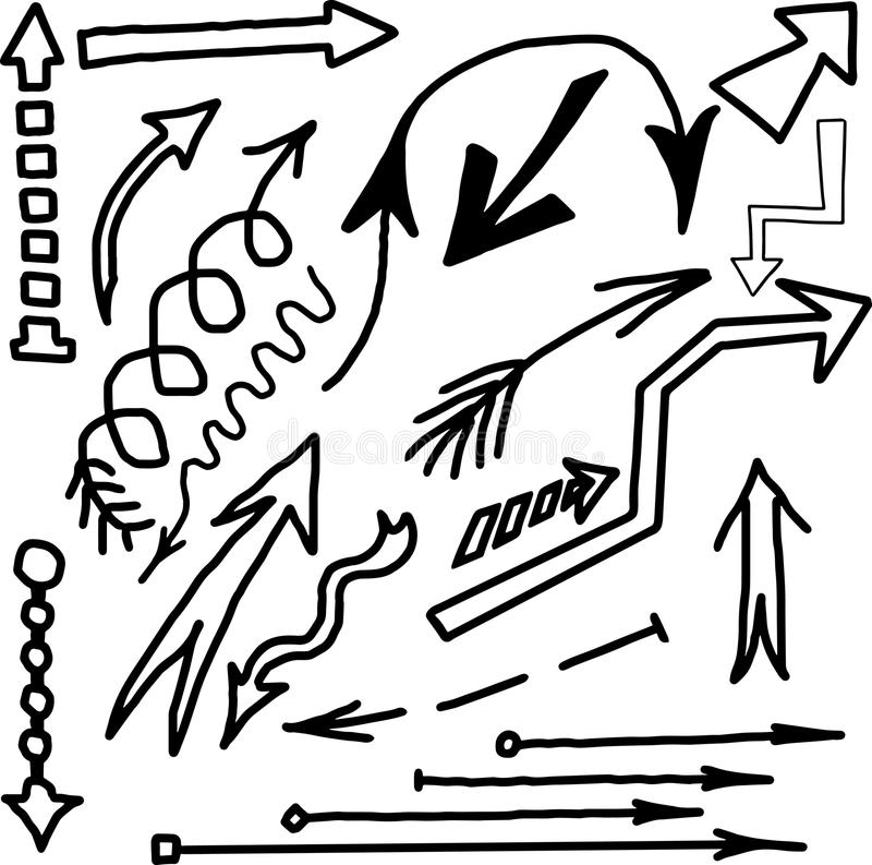Download Pfeilskizzengekritzel stock abbildung. Illustration von gekritzel - 96927491