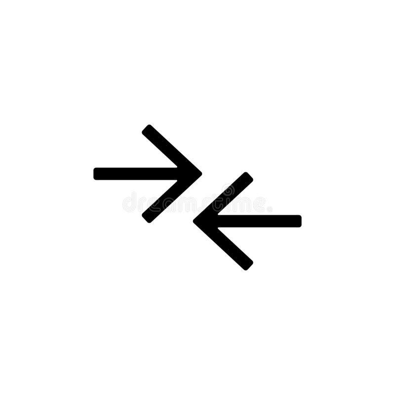 Pfeilsymbolvektor-Ikonen-Linksrechtslinie für Menüwebdesignzeichen-Pfeil ui vektor abbildung