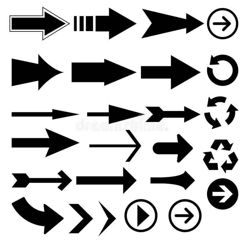 Pfeilvektoren lizenzfreie abbildung