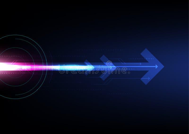 Pfeilzusammenfassungs-Technologiehintergrund des Geschäfts zukünftiger, Hallogeschwindigkeitsinternetanschluss vektor abbildung