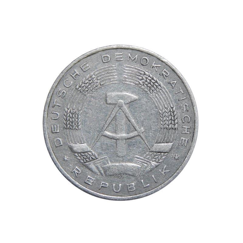 Pfennig Alemania - RDA de la moneda 10 foto de archivo libre de regalías