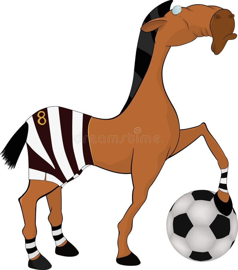 Pferd der Fußballspieler lizenzfreie abbildung