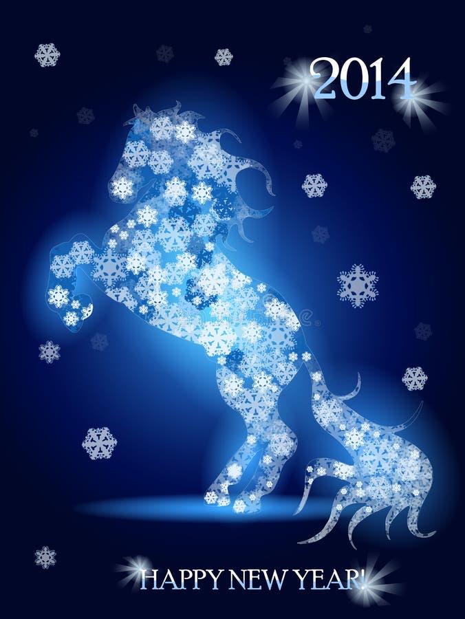 Pferd des neuen Jahres stock abbildung