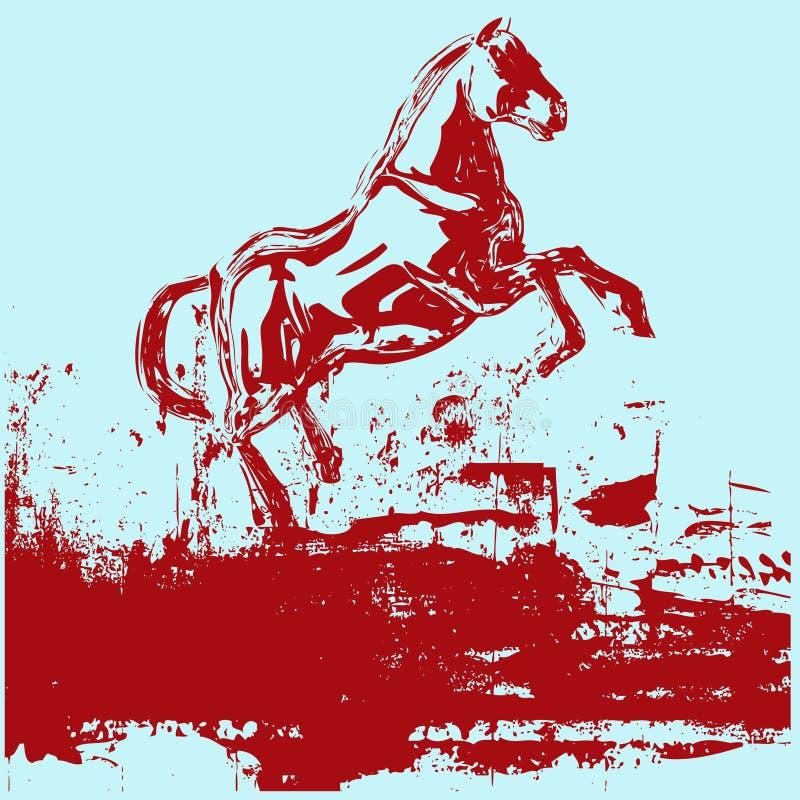 Pferd Grunge Hintergrund lizenzfreie abbildung