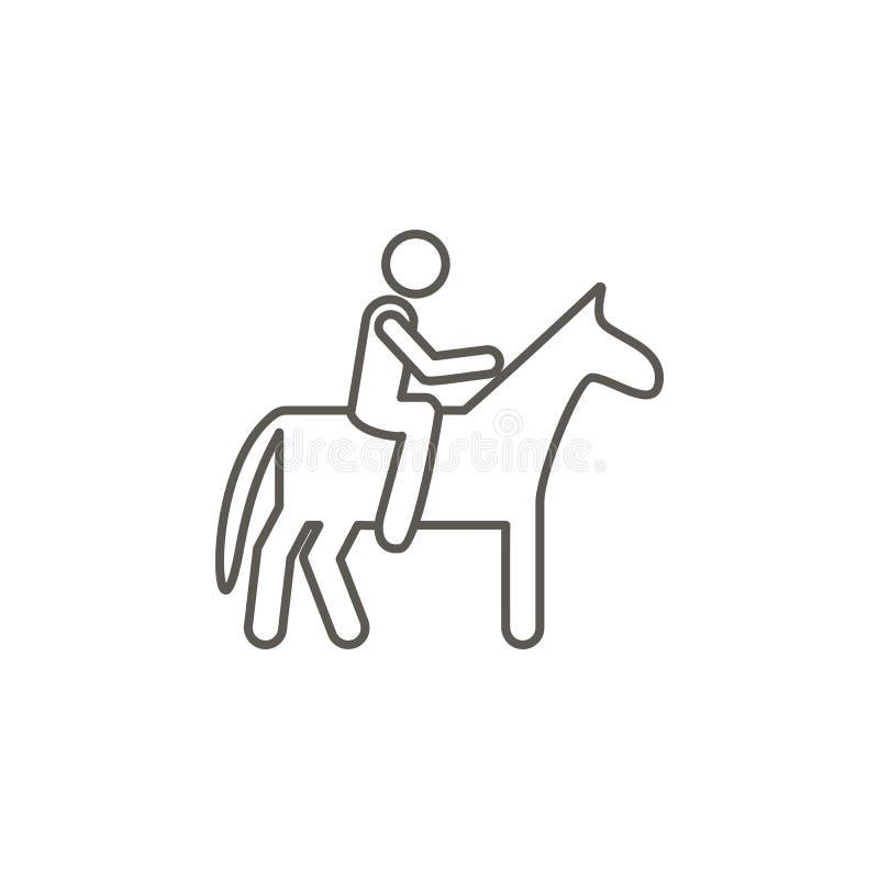 Pferd, Mannvektorikone Einfache Elementillustration von der Karte und vom Navigationskonzept Pferd, Mannvektorikone Grundbesitzko vektor abbildung
