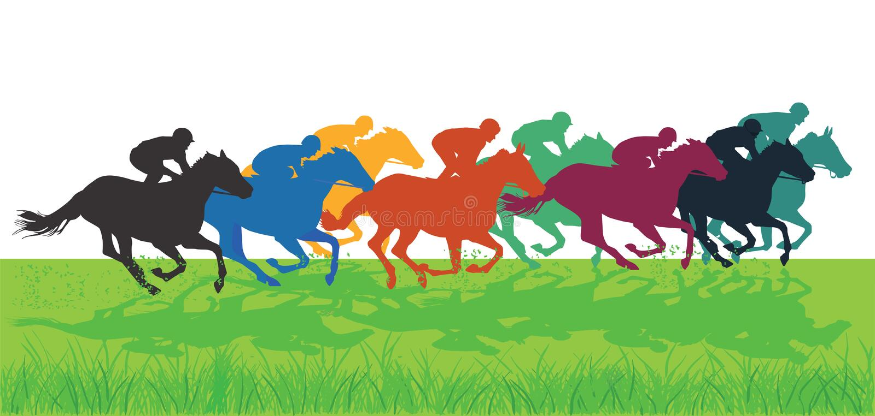 Pferd Racing lizenzfreie abbildung
