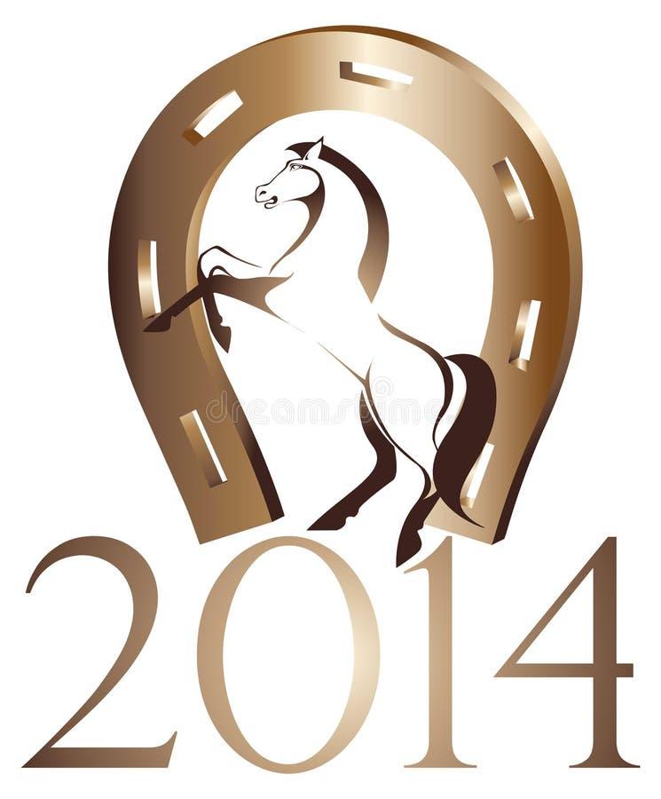Pferd, Symbol von 2014-jährigem lizenzfreies stockbild