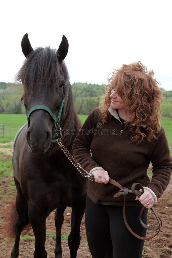 Pferd und Inhaber lizenzfreie stockfotos