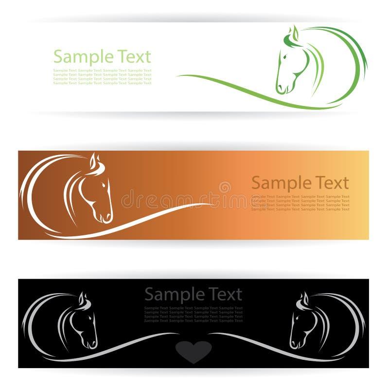 Pferdefahnen lizenzfreie abbildung