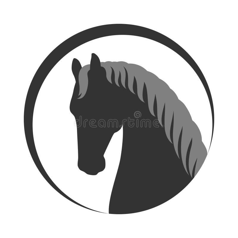 Pferdekopf mit der M?hne stock abbildung