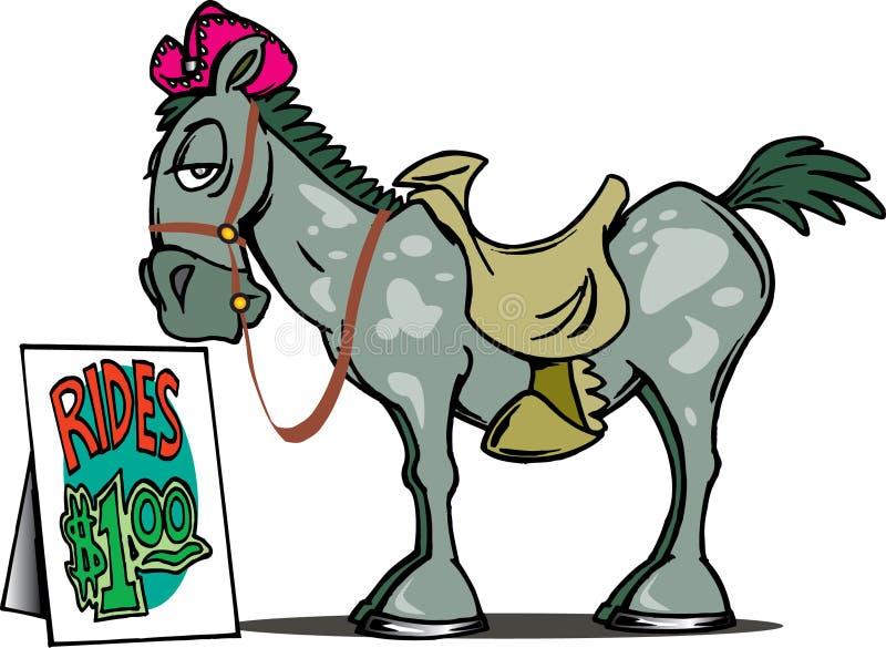 Pferden-Fahrten vektor abbildung