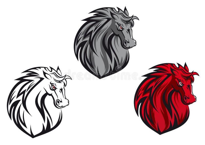 Pferdenkarikatur vektor abbildung
