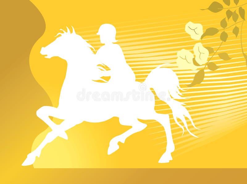 Pferdenreiten stock abbildung