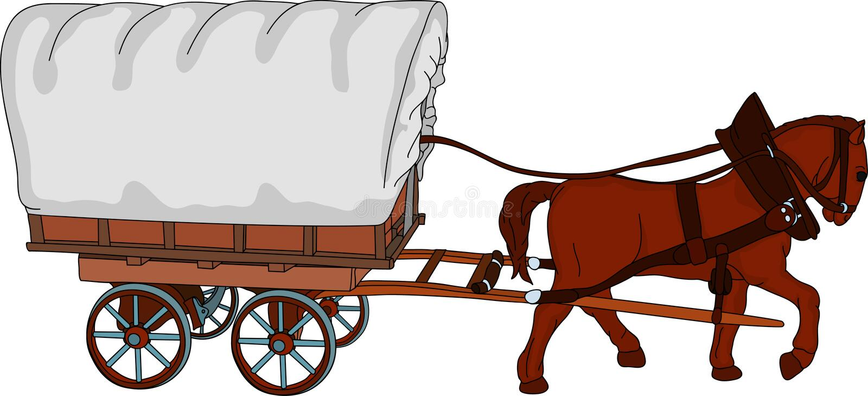 Pferdenwagen stock abbildung