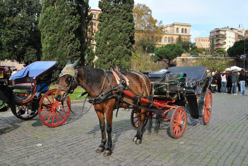Download Pferdenwagen In Rom, Italien Redaktionelles Stockbild - Bild von explore, geschichte: 27727184