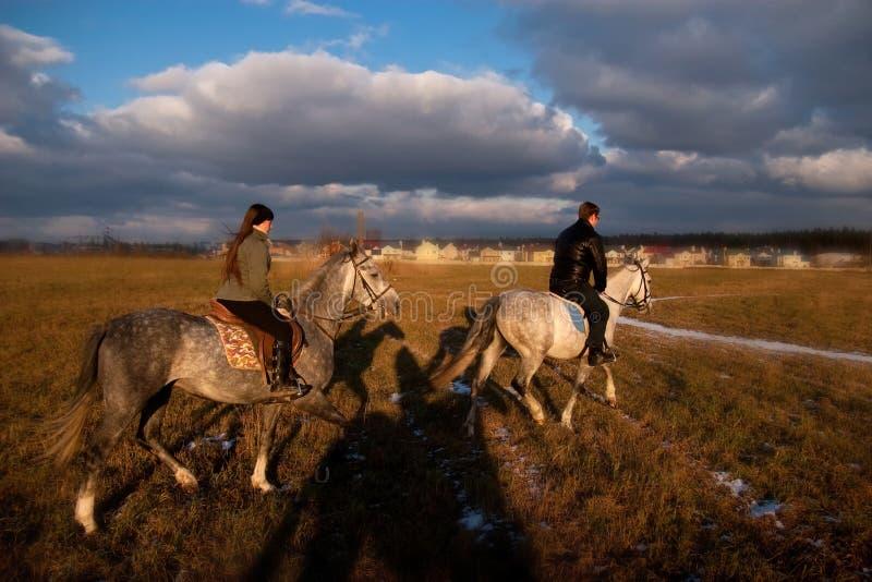 Pferderueckenreiten lizenzfreie stockbilder