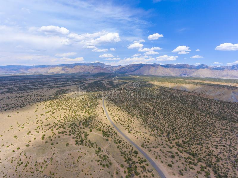 Pferdeschluchtvogelperspektive, Utah, USA lizenzfreies stockfoto
