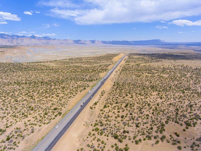 Pferdeschluchtvogelperspektive, Utah, USA stockfotos