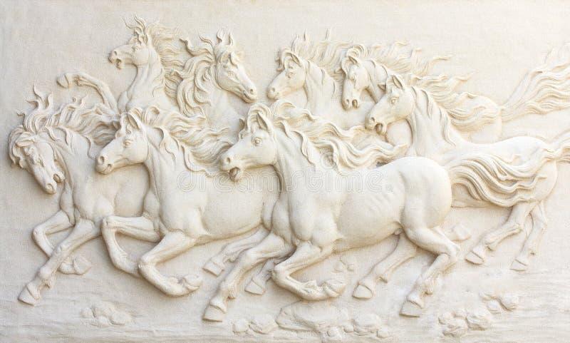 Pferdeskulpturen, Gebrauch zu verzieren lizenzfreie stockfotos