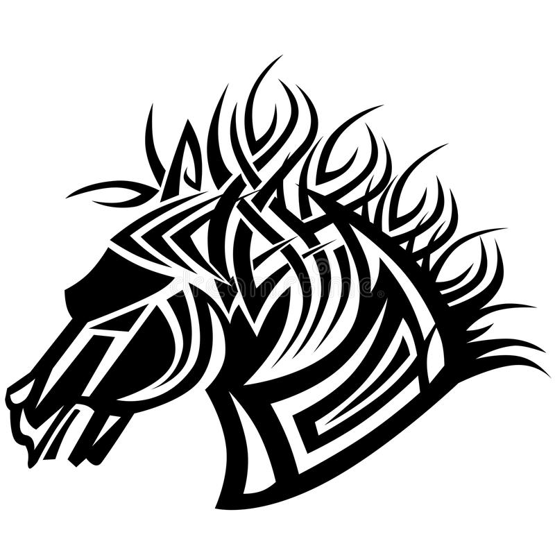 Pferdetätowierung stockbild