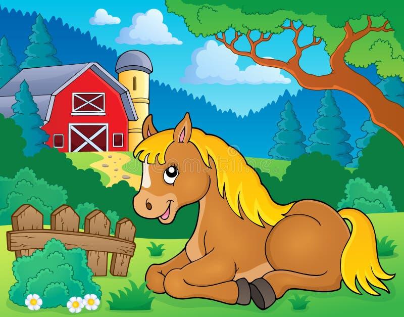 Pferdethemabild 2 stock abbildung