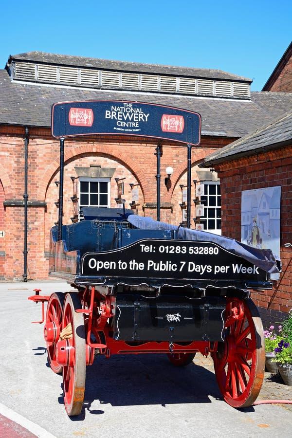 Pferdewarenkorb in der nationalen Brauerei-Mitte, Burton nach Trent stockfotografie