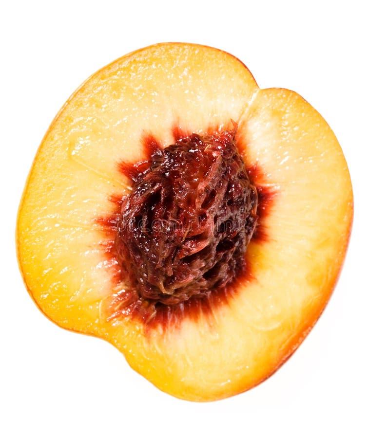 Pfirsich auf Weiß stockbild
