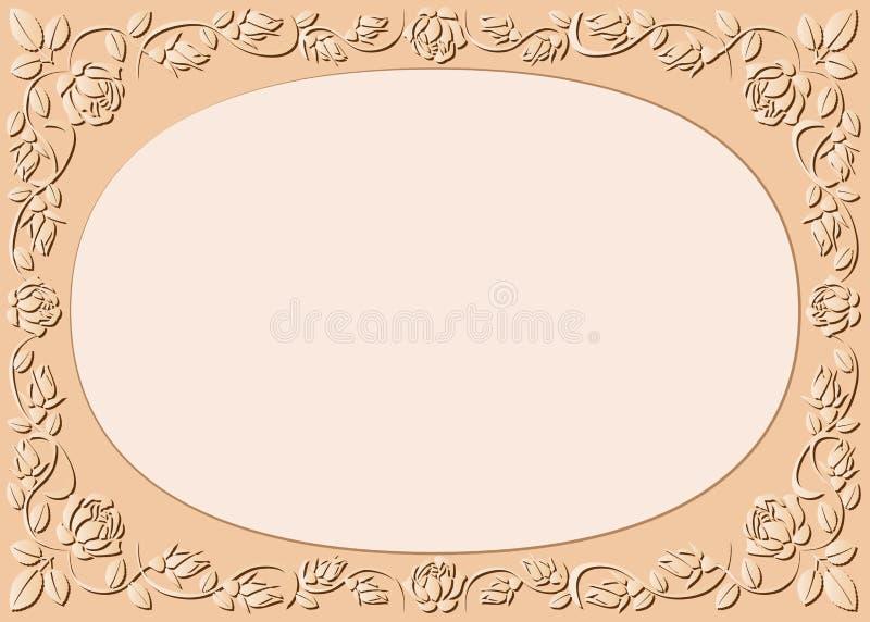 Pfirsich-farbiger Hintergrund Stockbild