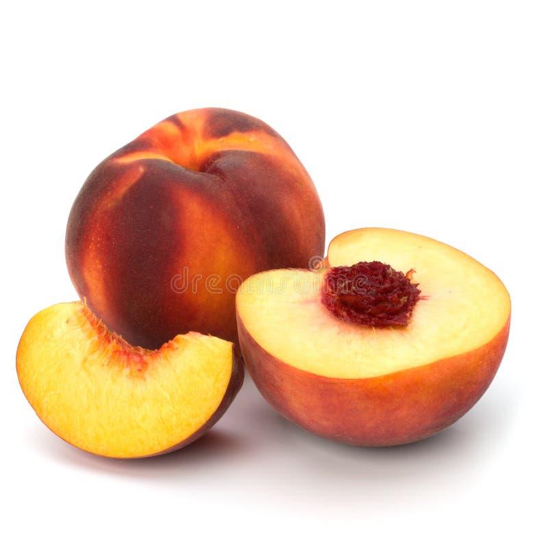 Pfirsich getrennt auf weißem Hintergrund stockfotografie