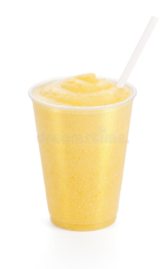 Pfirsich, Mango oder orange Smoothie stockbilder