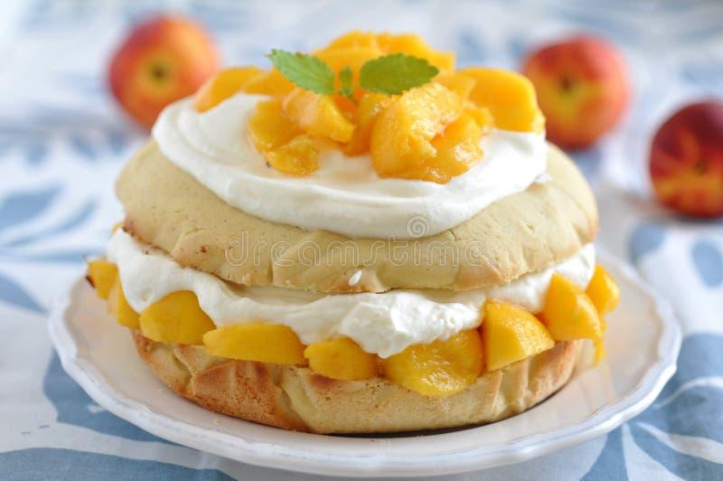 Pfirsich Shortcake stockbilder