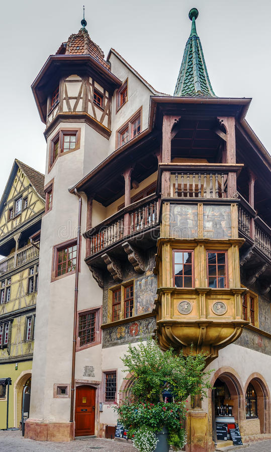 The Pfister house, Colmar, France stock photography