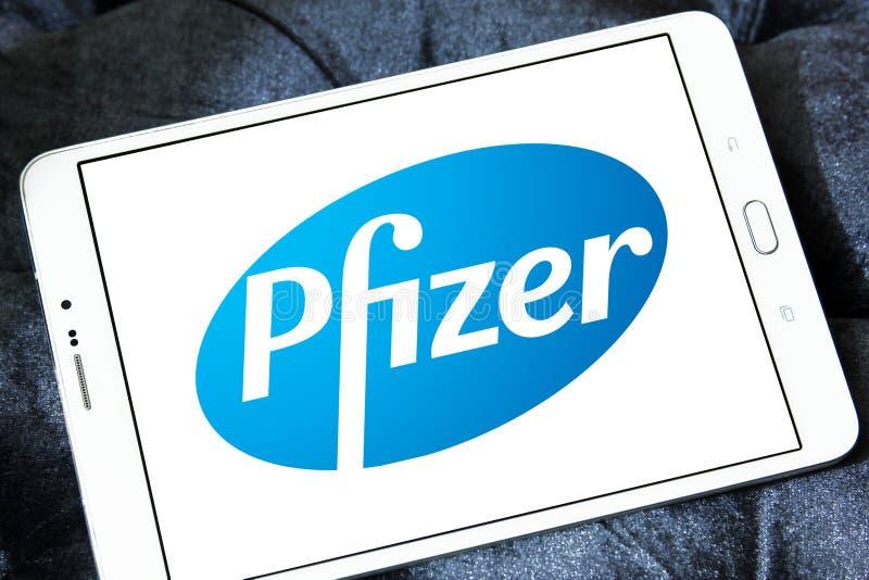 Pfizer logo stock images