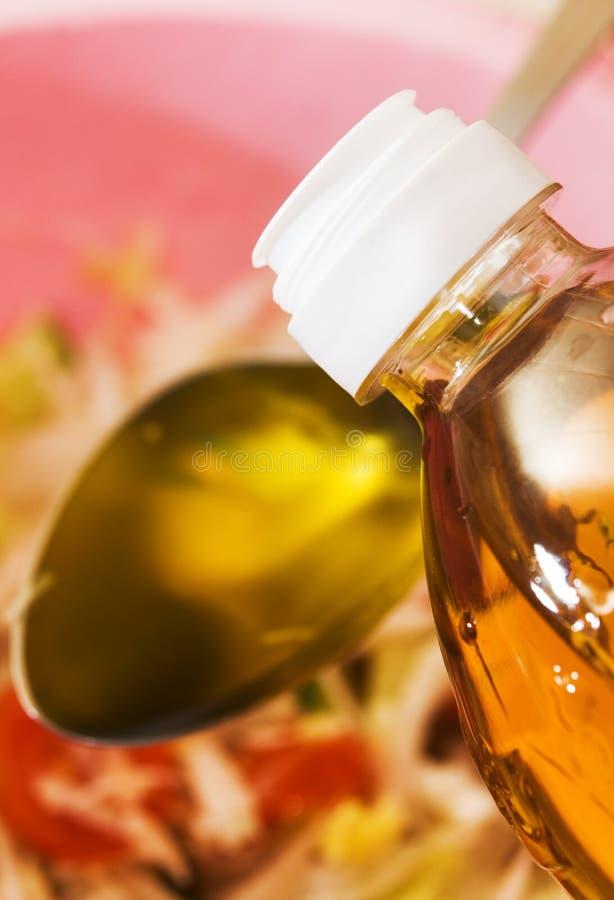 Pflanzenöl für Salat lizenzfreies stockbild