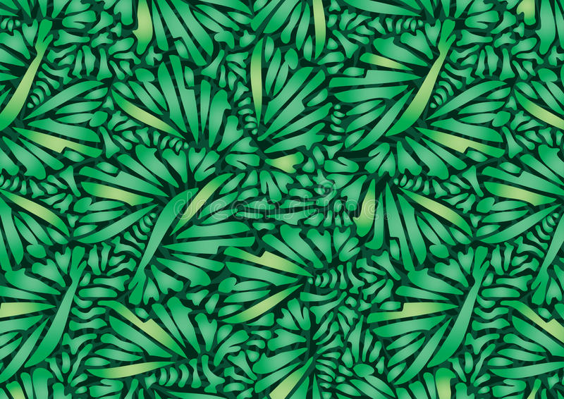 Pflanzt geometrische Grüns. lizenzfreie abbildung