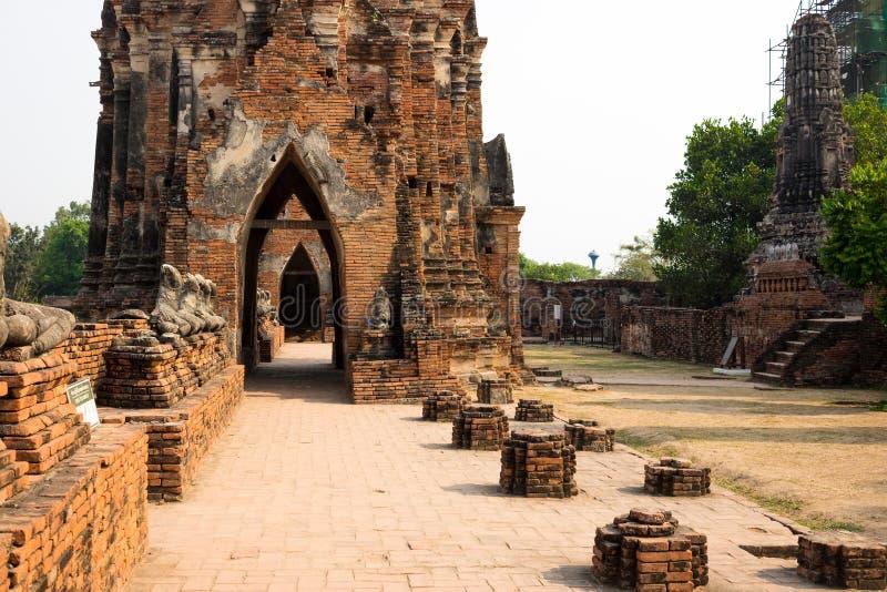 Pflasterungen in Ayutthaya stockbild