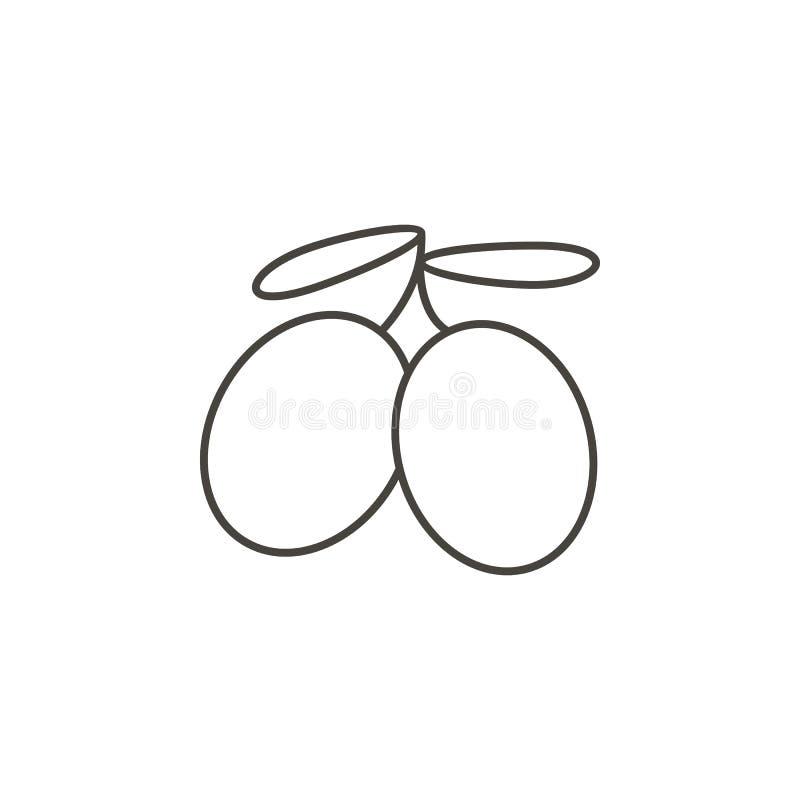Pflaume, gesunde Vektorikone Einfache Elementillustration vom Nahrungsmittelkonzept Pflaume, gesunde Vektorikone Getränkkonzeptve lizenzfreie abbildung