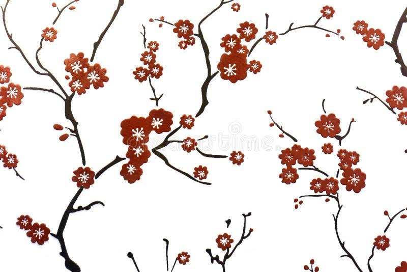 Pflaumenblüten-Wanddekoration stockfotografie