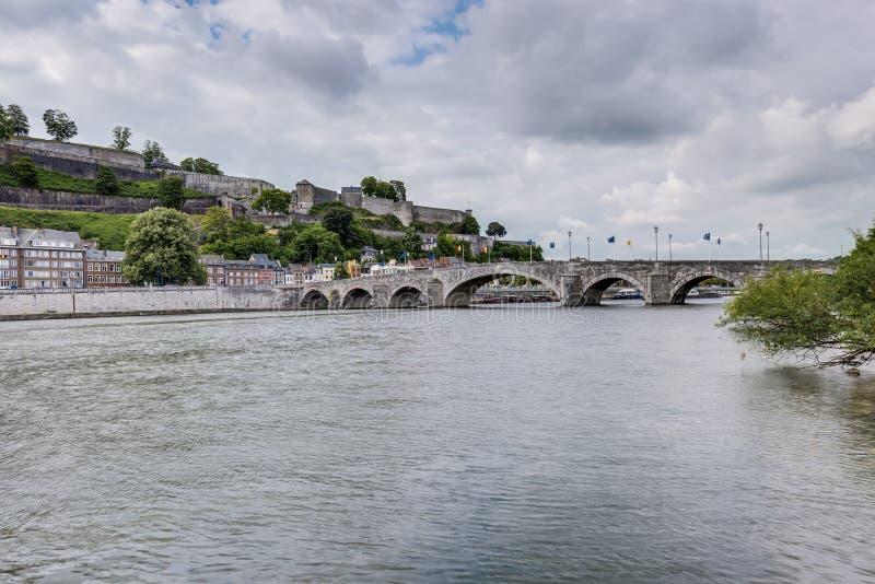 Pfosten überbrücken in Namur, Belgien stockbild