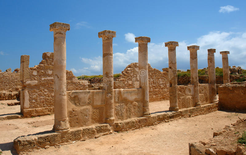 Pfosten in Paphos, Zypern-Insel stockbild