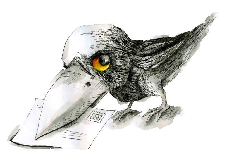 Pfostenvogel lizenzfreie abbildung